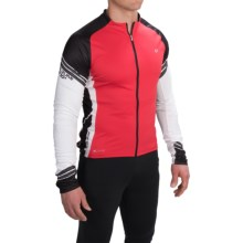 Pearl Izumi ELITE Cycling Jersey - Full Zip, Long Sleeve (For Men) in True Red/Black - Closeouts