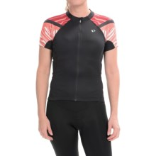 Pearl Izumi ELITE Cycling Jersey - Full Zip, Short Sleeve (For Women) in Black/Living Coral - Closeouts