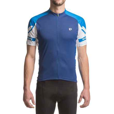 Pearl Izumi ELITE Cycling Jersey - UPF 50+, Full Zip, Short Sleeve (For Men) in Blue Depths/Sky Blue - Closeouts