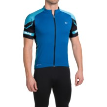 Pearl Izumi ELITE Cycling Jersey - UPF 50+, Full Zip, Short Sleeve (For Men) in Mykonos Blue/Blue Atoll - Closeouts