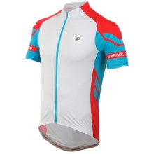 Pearl Izumi ELITE Cycling Jersey - UPF 50+, Full Zip, Short Sleeve (For Men) in White/Blue Atoll - Closeouts