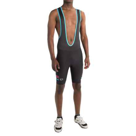 Pearl Izumi ELITE Escape Bib Cycling Shorts (For Men) in Black / Blue Mist - Closeouts