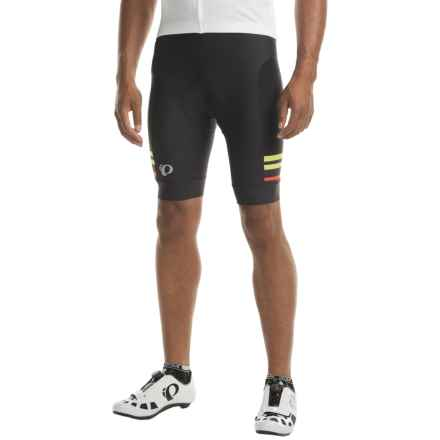 Pearl Izumi ELITE Escape Bike Shorts (For Men) in Black / Citron - Closeouts
