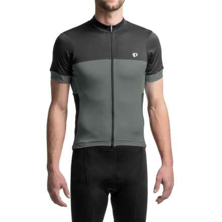 Pearl Izumi ELITE Escape Cycling Jersey - Full Zip, Short Sleeve (For Men) in Cool Stealth - Closeouts