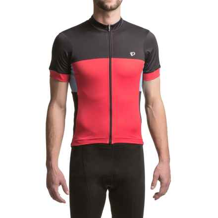 Pearl Izumi ELITE Escape Cycling Jersey - Full Zip, Short Sleeve (For Men) in Red Dusk - Closeouts