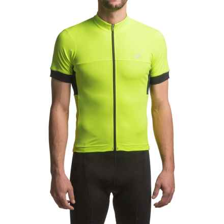 Pearl Izumi ELITE Escape Cycling Jersey - Full Zip, Short Sleeve (For Men) in Screaming Yellow - Closeouts