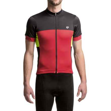 Pearl Izumi ELITE Escape Cycling Jersey - Full Zip, Short Sleeve (For Men) in Tibetan Lime - Closeouts