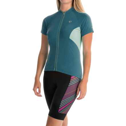 Pearl Izumi ELITE Escape Cycling Jersey - Full Zip, Short Sleeve (For Women) in Blue Steel - Closeouts