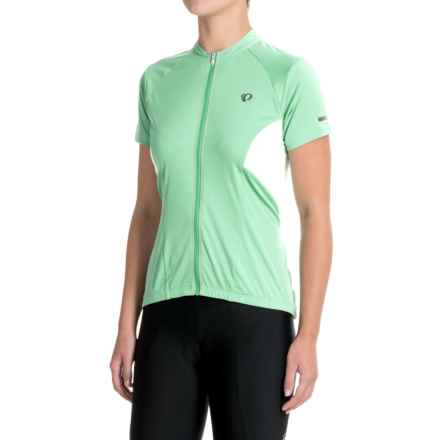 Pearl Izumi ELITE Escape Cycling Jersey - Full Zip, Short Sleeve (For Women) in Green Spruce - Closeouts