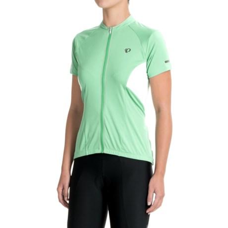 Pearl Izumi ELITE Escape Cycling Jersey - Full Zip, Short Sleeve (For Women) in Green Spruce
