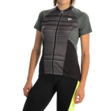 Pearl Izumi ELITE Escape Cycling Jersey - Full Zip, Short Sleeve (For Women) in Shadow Grey Stripe - Closeouts