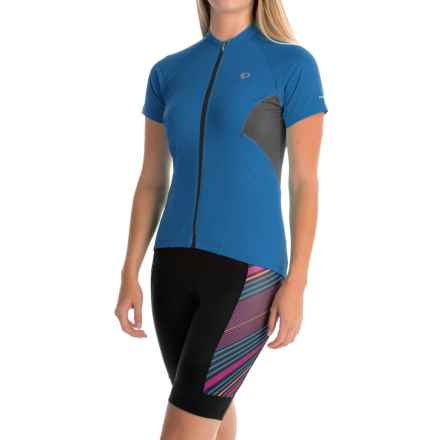 Pearl Izumi ELITE Escape Cycling Jersey - Full Zip, Short Sleeve (For Women) in Sky Blue - Closeouts