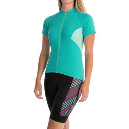 Pearl Izumi ELITE Escape Cycling Jersey - Full Zip, Short Sleeve (For Women) in Viridian Green - Closeouts