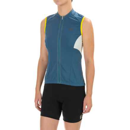 Pearl Izumi ELITE Escape Cycling Jersey - Full Zip, Sleeveless (For Women) in Blue Steel - Closeouts