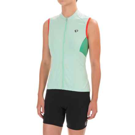 Pearl Izumi ELITE Escape Cycling Jersey - Full Zip, Sleeveless (For Women) in Mist Green - Closeouts