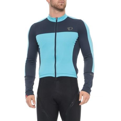 Pearl Izumi ELITE Escape Jersey - UPF 50+, Full Zip, Long Sleeve (For Men) in Eclipse Blue / Blue Mist