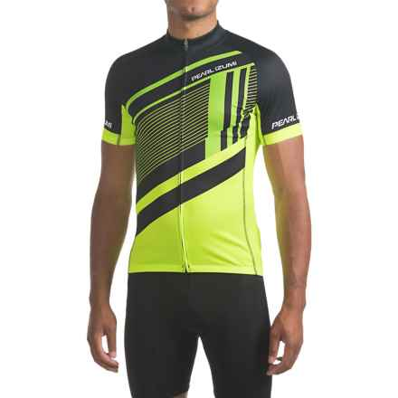 Pearl Izumi ELITE Escape LTD Jersey - UPF 40+, Full Zip, Short Sleeve (For Men) in Ascend Screaming Yellow - Closeouts