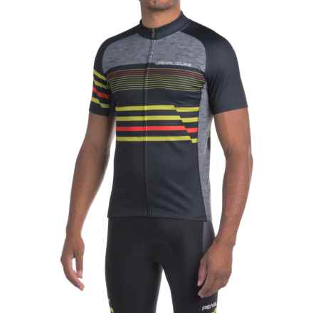 Pearl Izumi ELITE Escape LTD Jersey - UPF 40+, Full Zip, Short Sleeve (For Men) in Black Vista - Closeouts