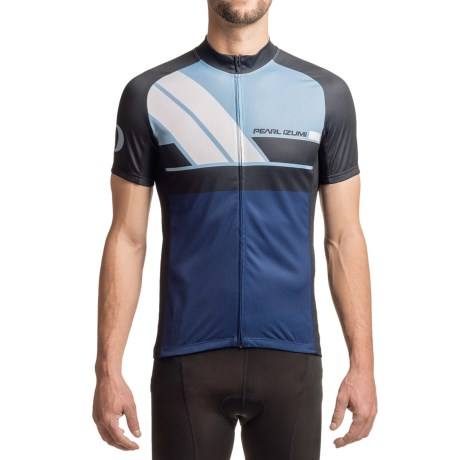 Pearl Izumi ELITE Escape LTD Jersey - UPF 40+, Full Zip, Short Sleeve (For Men) in Diagonal Blue X 2
