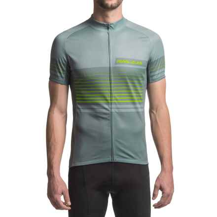 Pearl Izumi ELITE Escape LTD Jersey - UPF 40+, Full Zip, Short Sleeve (For Men) in Linear Smoked Pearl - Closeouts