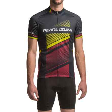 Pearl Izumi ELITE Escape LTD Jersey - UPF 40+, Full Zip, Short Sleeve (For Men) in Razor Tibetan Lime - Closeouts