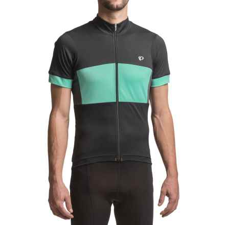 Pearl Izumi ELITE Escape Semi-Form Jersey - Short Sleeve (For Men) in Black/Aqua Mint - Closeouts