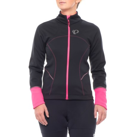 Pearl Izumi ELITE Escape Soft Shell Jacket (For Women) in Black/Screaming Pink