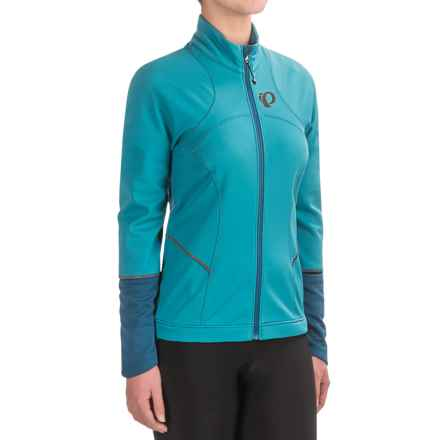 Pearl Izumi ELITE Escape Soft Shell Jacket (For Women) in Pagoda Blue/Moroccan Blue - Closeouts