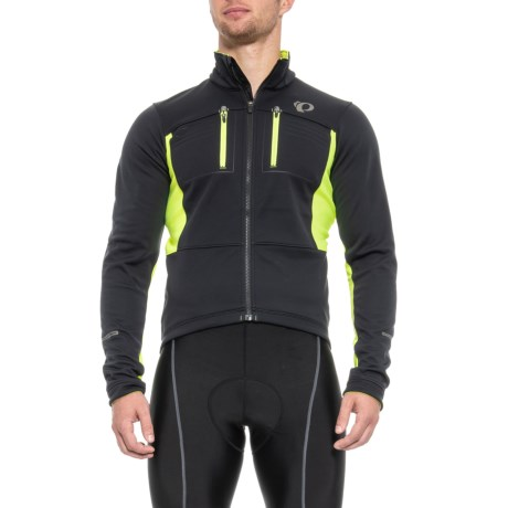 Pearl Izumi ELITE Escape Thermal Cycling Jacket - Soft Shell (For Men) in Black/Screaming Yellow