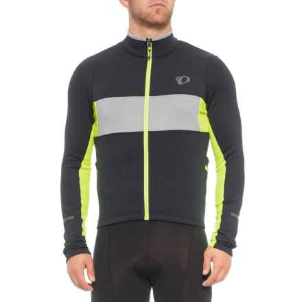 Pearl Izumi ELITE Escape Thermal Cycling Jersey - Full Zip, Long Sleeve (For Men) in Black/Screaming Yellow - Closeouts