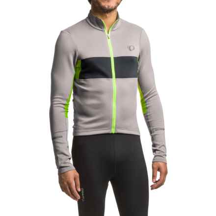 Pearl Izumi ELITE Escape Thermal Cycling Jersey - Full Zip, Long Sleeve (For Men) in Monument/Black - Closeouts