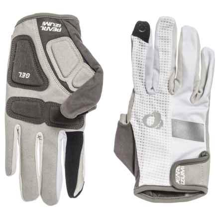 Pearl Izumi ELITE Gel Bike Gloves - Full Finger (For Men and Women) in White - Closeouts