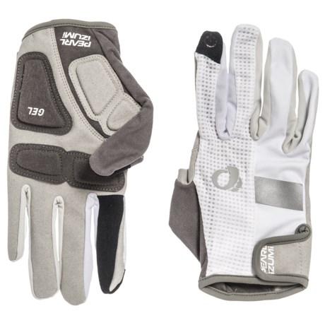 Pearl Izumi ELITE Gel Bike Gloves - Full Finger (For Men and Women) in White