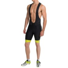Pearl Izumi ELITE In-R-Cool® Cycling Bib Shorts (For Men) in Black/Lime Punch - Closeouts