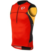 Pearl Izumi ELITE In-R-Cool® Tri Jersey - UPF 50+, Sleeveless (For Men) in Firey Red/Black Turnout - Closeouts