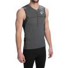 Pearl Izumi ELITE In-R-Cool® Tri Jersey - UPF 50+, Sleeveless (For Men) in Shadow Grey/Black - Closeouts