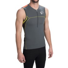Pearl Izumi ELITE In-R-Cool® Tri Jersey - UPF 50+, Sleeveless (For Men) in Shadow Grey/Manadrin Red - Closeouts
