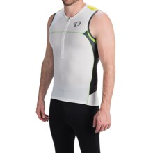 Pearl Izumi ELITE In-R-Cool® Tri Jersey - UPF 50+, Sleeveless (For Men) in White/Green Flash - Closeouts