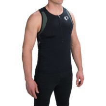 Pearl Izumi ELITE In-R-Cool® Tri Singlet - Zip Neck (For Men) in Shadow Grey/Black - Closeouts