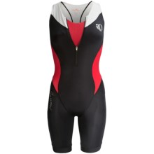 Pearl Izumi Elite In-R-Cool® Tri Suit - Built-In Chamois, Sports Bra Included (For Women) in Black/True Red - Closeouts