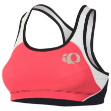 Pearl Izumi Elite In-R-Cool Triathlon Crop Sports Bra - UPF 50+ (For Women) in Paradise Pink/White - Closeouts