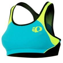 Pearl Izumi Elite In-R-Cool Triathlon Crop Sports Bra - UPF 50+ (For Women) in Scuba Blue/Scrmg Yellow - Closeouts