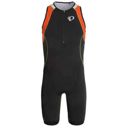 Pearl Izumi ELITE In-R-Cool® Triathlon Suit - UPF 50 (For Men) in Black/Mandarin Red - Closeouts