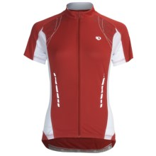 Pearl Izumi Elite Jersey - Full Zip, Short Sleeve (For Women) in True Red - Closeouts