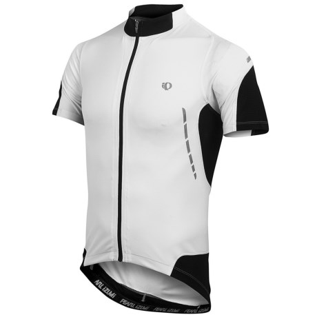 Pearl Izumi Elite Jersey - UPF 50+, Full Zip, Short Sleeve (For Men) in Black/White