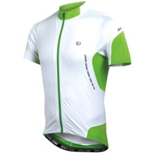 Pearl Izumi Elite Jersey - UPF 50+, Full Zip, Short Sleeve (For Men) in White/Green Flash - Closeouts