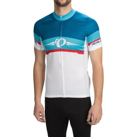 Pearl Izumi ELITE LTD Cycling Jersey - Full Zip, Short Sleeve (For Men) in Badge/Blue Atoll