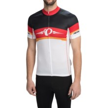 Pearl Izumi ELITE LTD Cycling Jersey - Full Zip, Short Sleeve (For Men) in Bagde/True Red - Closeouts
