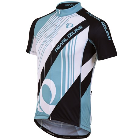 Pearl Izumi Elite LTD Cycling Jersey - Full Zip, Short Sleeve (For Men) in Brush Stroke Still Water