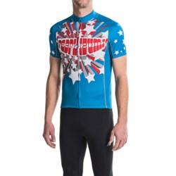 Pearl Izumi ELITE LTD Cycling Jersey - Full Zip, Short Sleeve (For Men) in Love True Blue
